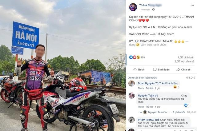 Đề nghị xác minh việc nam thanh niên chạy xe máy xuyên Việt chưa đến 20 tiếng - 1