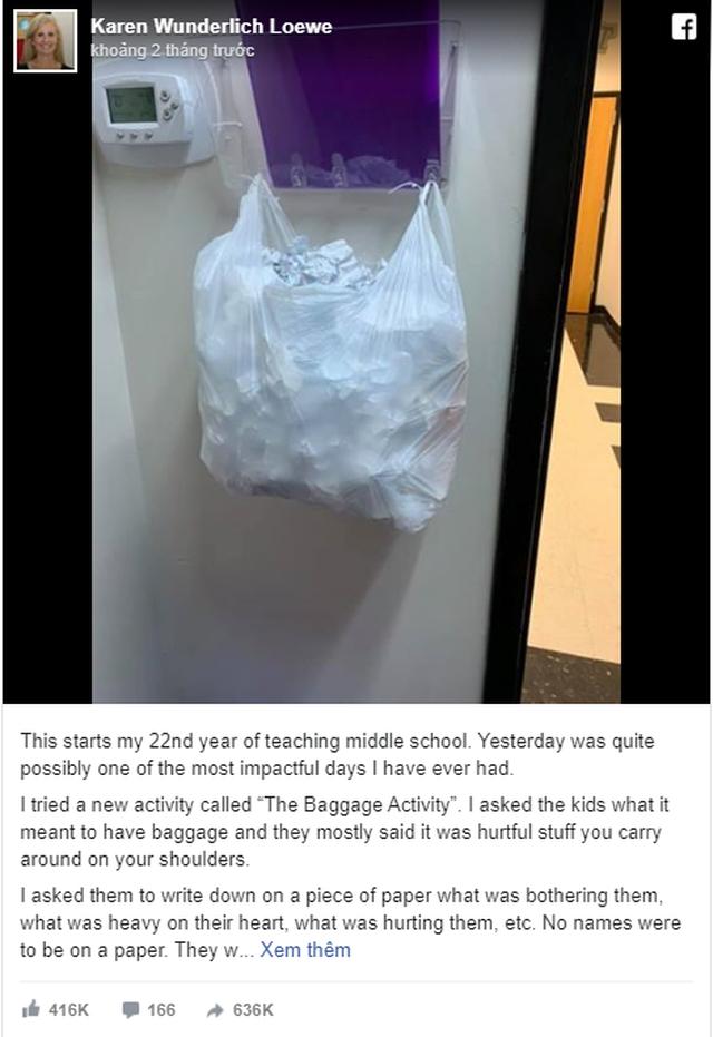 Bài tập chia sẻ gánh nặng của cô giáo Mỹ thu hút trăm ngàn lượt like - 1