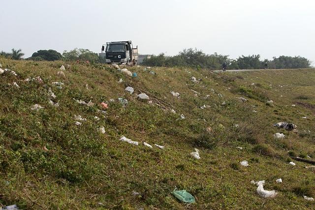 Báo động tình trạng ngập rác thải nhựa tại đê Hữu Hồng  - 10