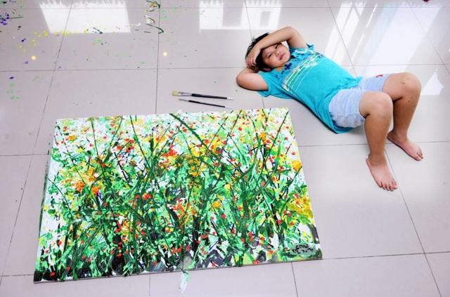 Tổ chức triển lãm tranh tại Mỹ, thần đồng hội họa Việt kiếm được hơn 3,4 tỷ đồng  - 2