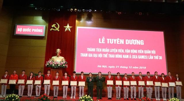 Bộ Quốc phòng tuyên dương quân nhân đạt thành tích cao tại SEA Games 30 - 2