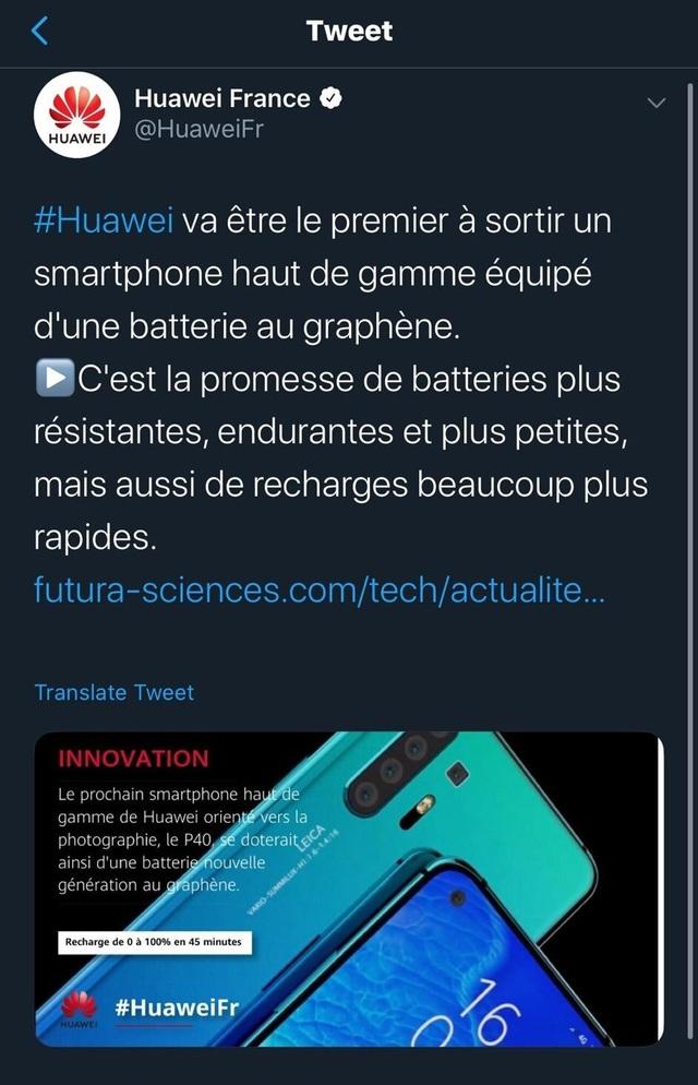 Huawei P40 Pro sẽ được trang bị công nghệ pin mới, an toàn và sạc siêu nhanh? - 1