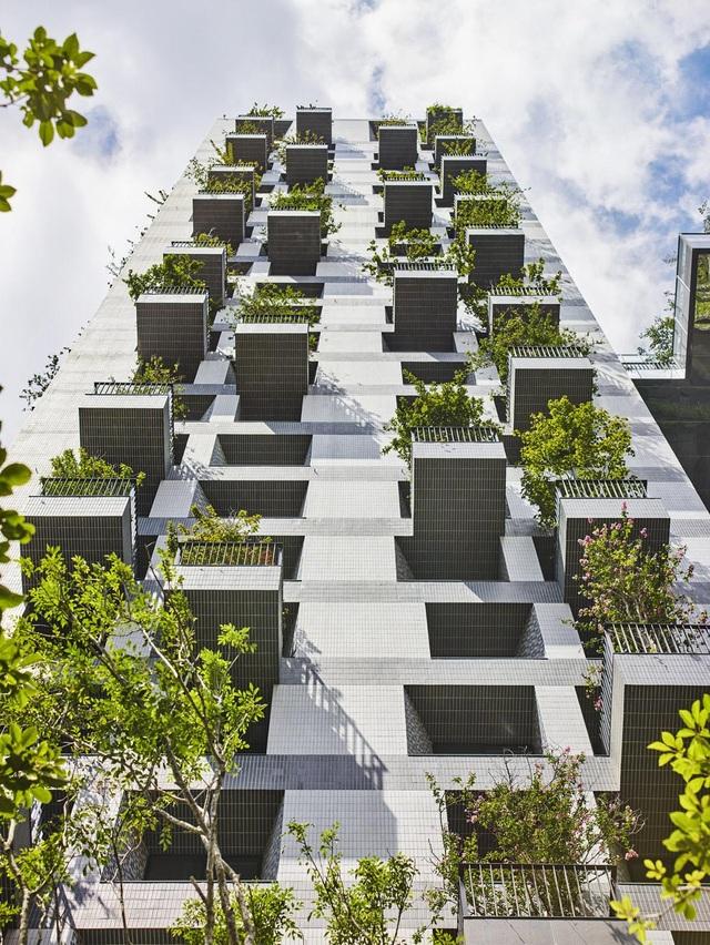"""Khu chung cư """"độc, lạ"""" với rừng cây xanh phủ từ tầng 1 lên tầng thượng - 5"""