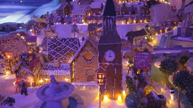 Thành phố Giáng sinh tuyệt đẹp làm từ 95 tấn bánh gừng - 2