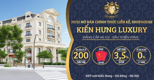 Mở bán chính thức liền kề, shophouse Kiến Hưng Luxury - 1