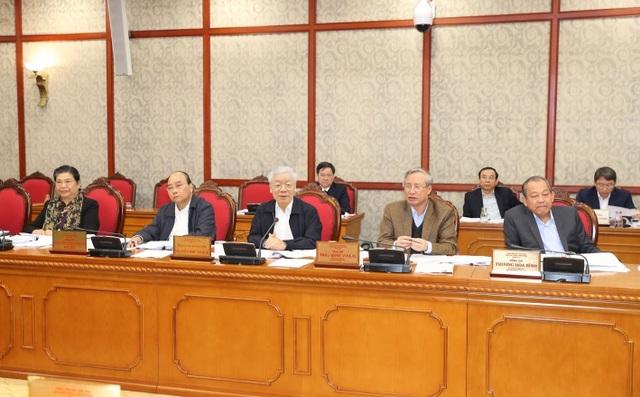 Tổng Bí thư Nguyễn Phú Trọng chủ trì họp Bộ Chính trị quyết định một số nhân sự - 1