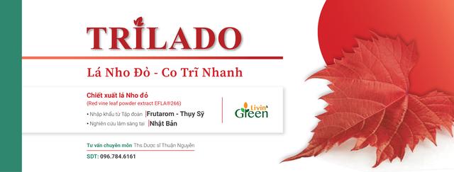 Viên uống Trĩ Trilado - Lá nho đỏ nhập khẩu từ Thụy Sỹ - 3