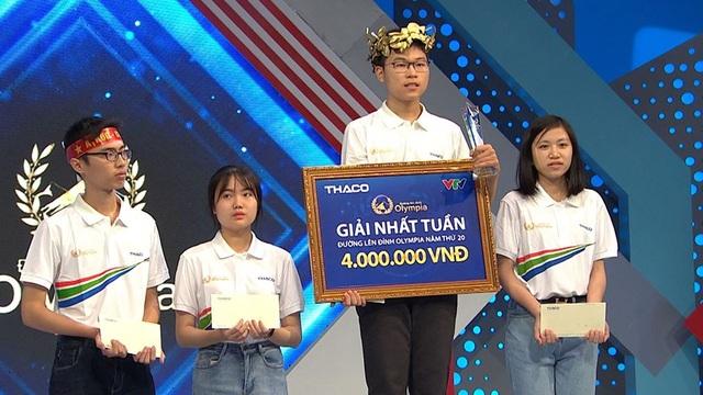 Nam sinh chuyên Lê Hồng Phong vô địch cuộc thi Tuần Olympia - 2