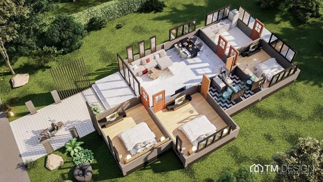 Mẫu nhà cấp 4 với 3 phòng ngủ, đẹp như biệt thự vườn dành cho gia đình Việt - 4