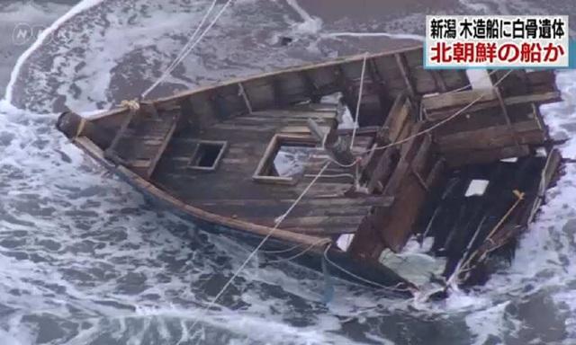 Tàu ma chở 7 thi thể dạt vào bờ biển Nhật Bản - 1