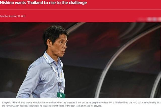 """HLV Nishino: """"Cơ hội dự Olympic 2020 của U23 Thái Lan rất nhỏ"""" - 1"""