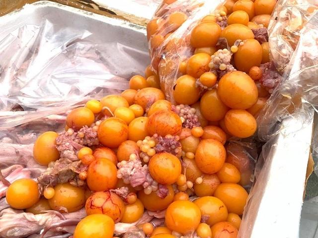 Hà Nội: Cảnh sát bắt hàng tấn lưỡi vịt, trứng non nhập lậu chuẩn bị mang đi tiêu thụ - 4