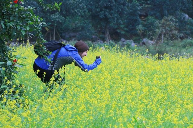 Vườn hoa cải rực vàng đẹp mê hồn khiến du khách nao lòng ở Thung Nham - 14
