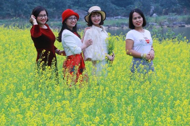 Vườn hoa cải rực vàng đẹp mê hồn khiến du khách nao lòng ở Thung Nham - 4