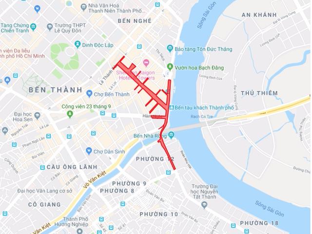 Đêm nay, TPHCM cấm xe nhiều tuyến đường trung tâm - 2