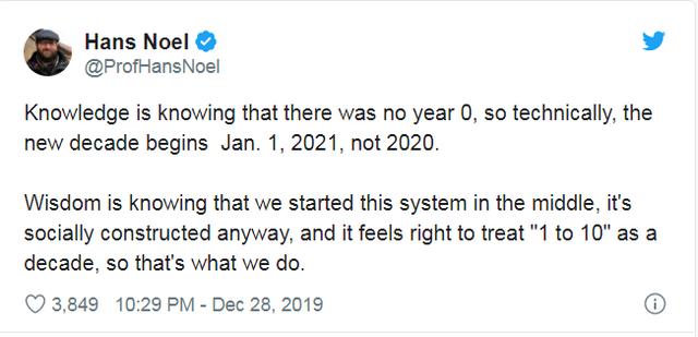 Cộng đồng mạng tranh cãi năm 2020 đã khởi đầu của thập kỷ mới chưa - 3