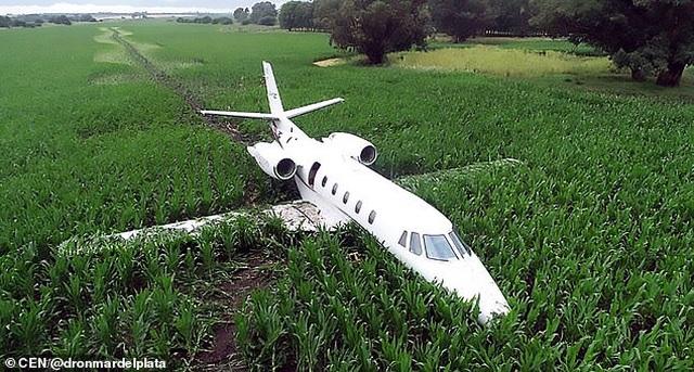 Máy bay Argentina mài bụng xuống đất do động cơ trục trặc - 1