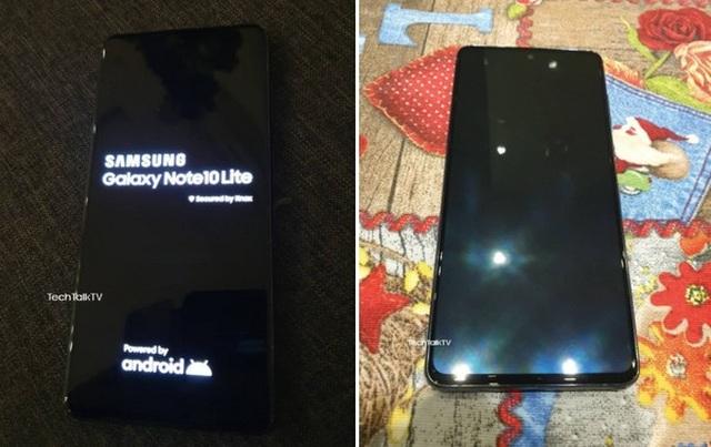 Lộ ảnh thực tế Galaxy Note10 Lite, cụm camera giống Pixel 4 XL
