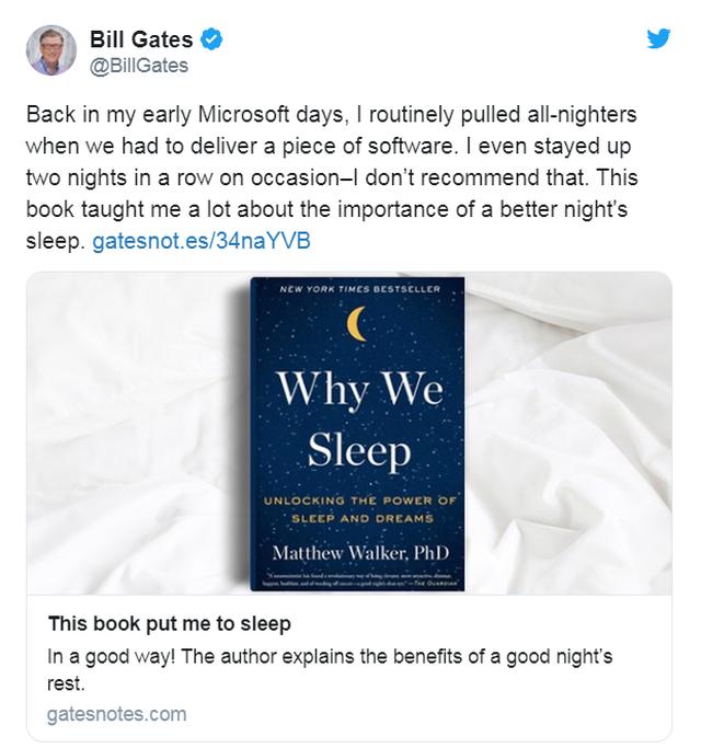 Những lời khuyên đáng giá về giấc ngủ của tỷ phú Bill Gates - 2