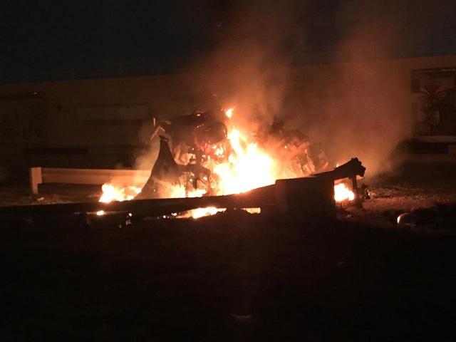 Sân bay Iraq gần căn cứ Mỹ tê liệt vì bị nã rocket - 1