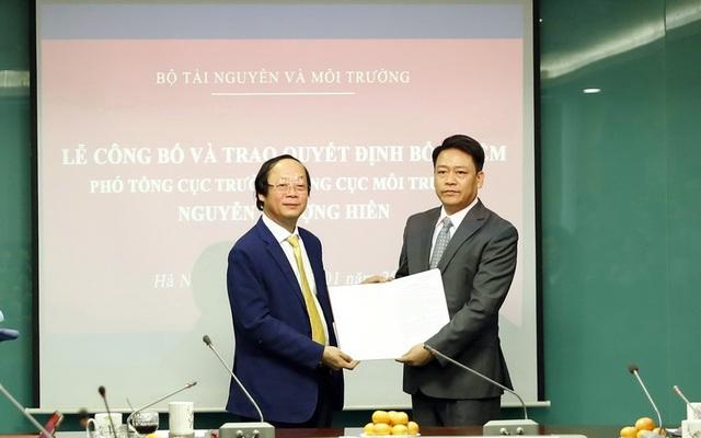 Ông Nguyễn Thượng Hiền làm Phó Tổng cục trưởng Tổng cục Môi trường - 1