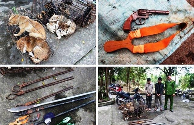 Bị vây bắt,nhóm trộm chó hung hãn chém 2 cảnh sát bị thương - 1