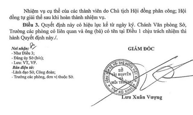 """Hài hước cách đánh giá cán bộ liên quan các vụ """"bê bối"""" tại Sở Tài nguyên Bắc Giang! - 2"""