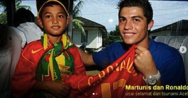 Nạn nhân sóng thần mời C.Ronaldo đến dự đám cưới - 1