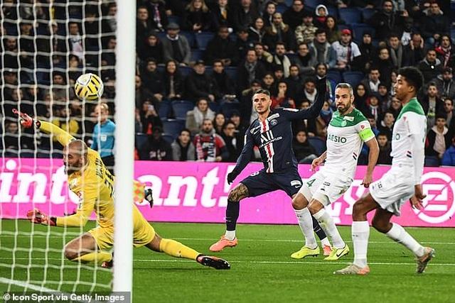PSG 6-1 Saint-Etienne: Icardi lần đầu lập hat-trick - 2