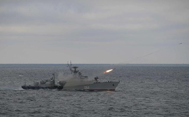Tổng thống Putin lên tàu tuần dương thị sát tập trận gần Crimea - 8