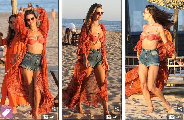 Alessandra Ambrosio bốc lửa trên bãi biển Uruguay - 1