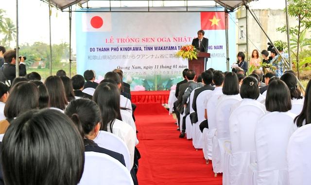 Nhật Bản tặng giống sen quý cho Quảng Nam - 1