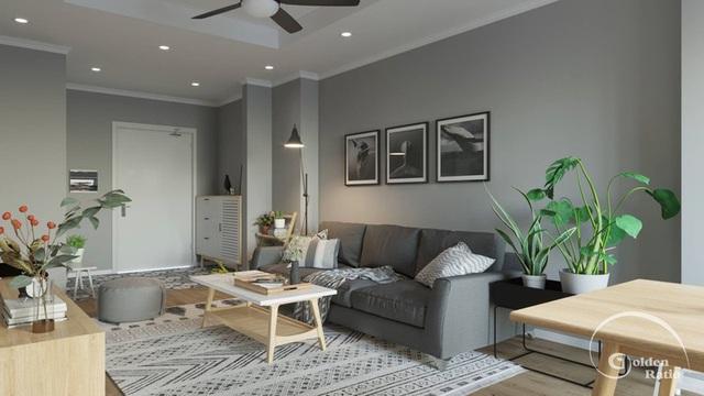 Căn hộ một phòng ngủ sở hữu gam màu xanh mát mẻ - 2
