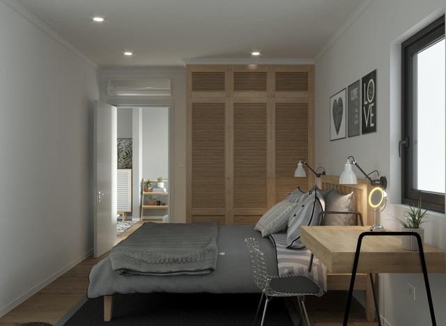 Căn hộ một phòng ngủ sở hữu gam màu xanh mát mẻ - 9