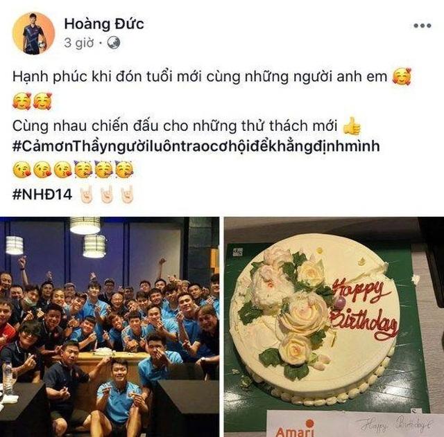 HLV Park Hang Seo làm điều bất ngờ trong sinh nhật của Hoàng Đức - 1