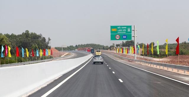 Miễn phí lưu thông cao tốc Bắc Giang - Lạng Sơn từ ngày 15/1 - 1