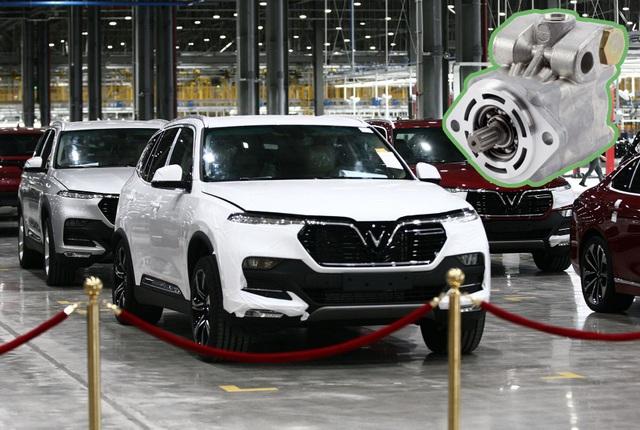 VinFast kiểm tra bơm trợ lực lái cho xe Lux - 1