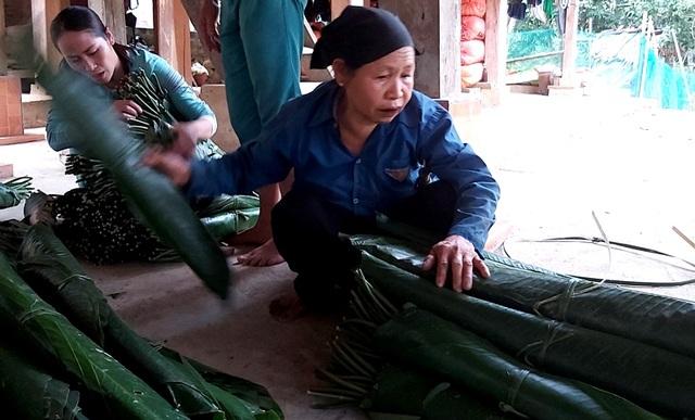 Thanh Hoá: Cận Tết, nhiều cụ bà gần 70 tuổi vẫn băng rừng, lội suối hái lá dong - 9