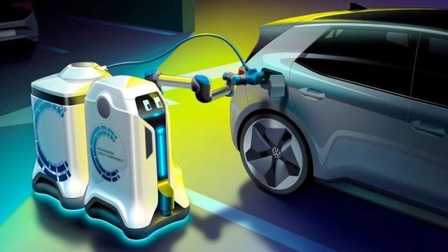 Robot có thể tự động sạc điện cho ô tô - 1