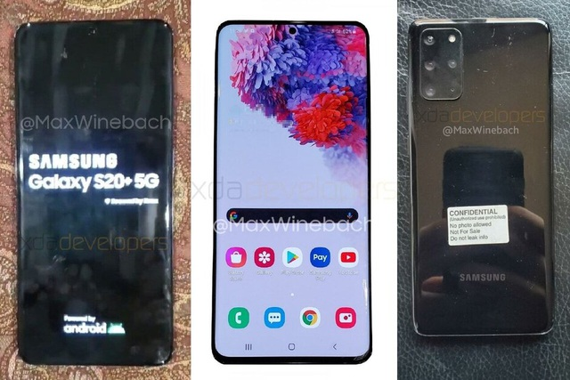 Galaxy S20 Ultra lộ ảnh thực tế, màn hình 6.9-inch siêu khổng lồ - 1
