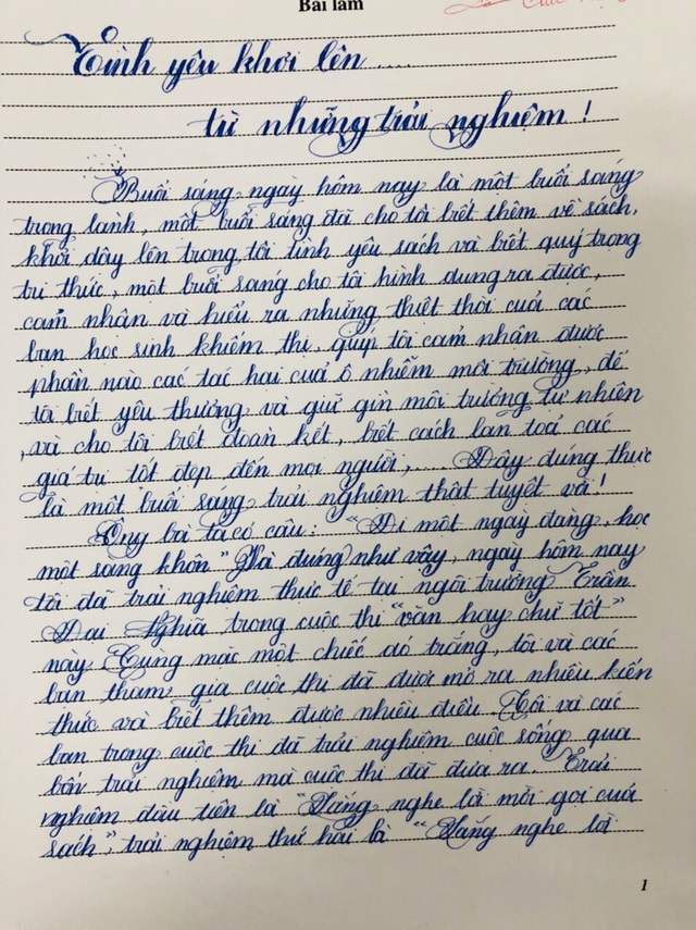 Nét chữ đẹp như mơ của học sinh TPHCM - 4