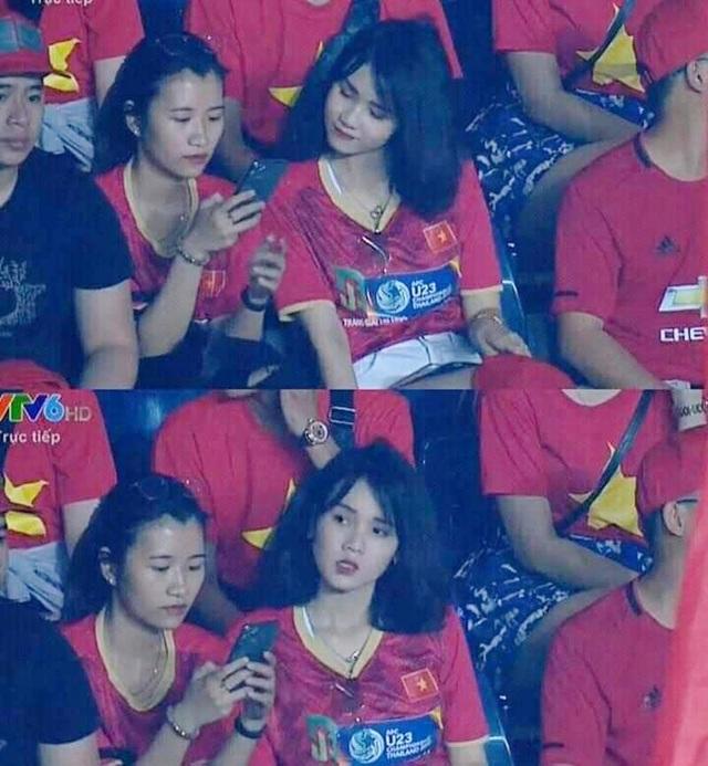 """Cô gái gây """"bão"""" mạng khi xuất hiện trên khán đài trận U23 Việt Nam - Jordan - 2"""