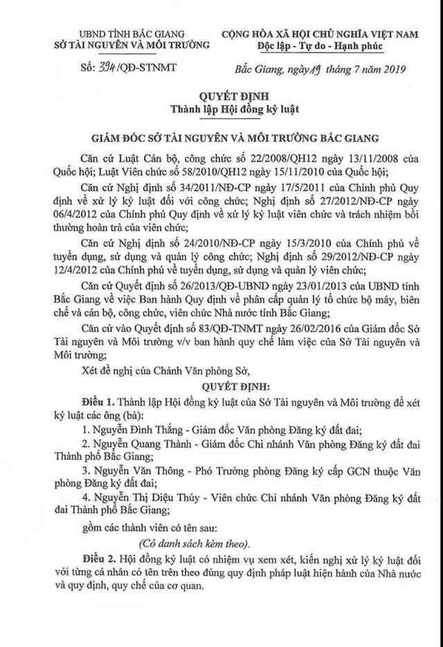 """Bình bầu trong các vụ """"bê bối"""" tại Sở Tài nguyên Bắc Giang: Chuyện thật như đùa! - 1"""