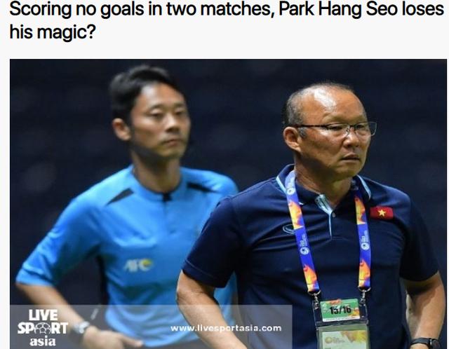"""Báo châu Á: """"HLV Park Hang Seo đã hết phép?"""" - 1"""