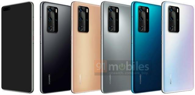 Lộ ảnh chính thức Huawei P40 Pro có cụm camera nổi bật - 2