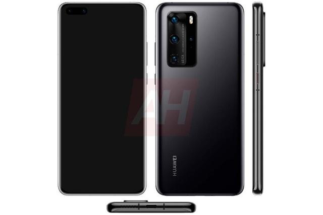 Lộ ảnh chính thức Huawei P40 Pro có cụm camera nổi bật - 1