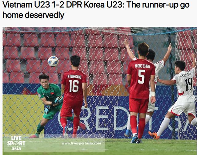"""Báo châu Á: """"U23 Việt Nam bị loại xứng đáng"""" - 1"""
