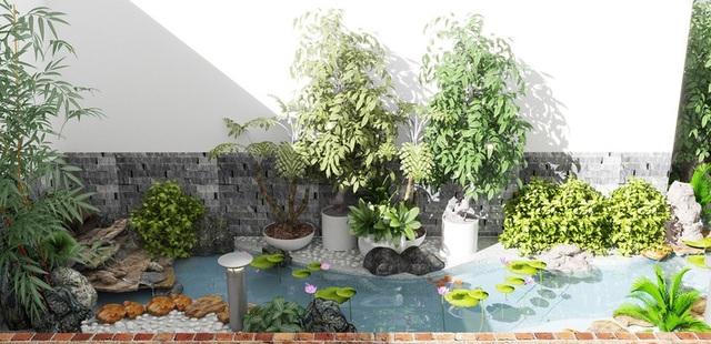 Những mẫu sân vườn xanh ngắt tràn đầy sức sống đón xuân - 1