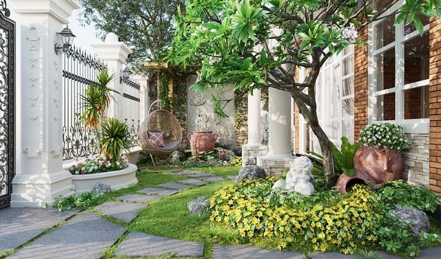 Những mẫu sân vườn xanh ngắt tràn đầy sức sống đón xuân - 2