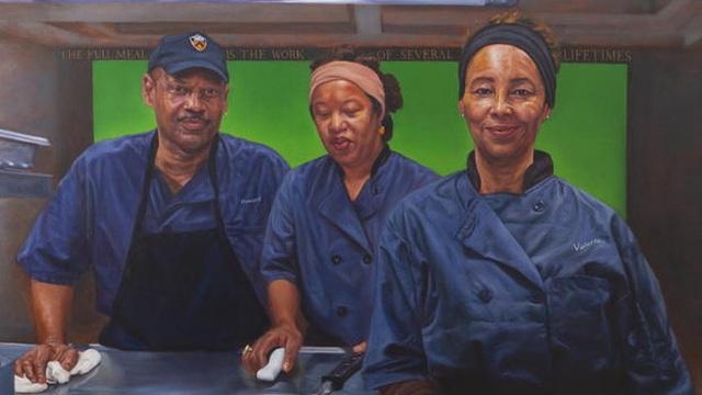 Đại học danh tiếng Mỹ trưng bày tranh chân dung các nhân viên thầm lặng - 1